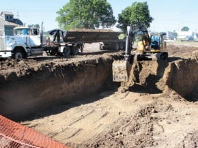 Excavation for new Albion Swimming Pool.