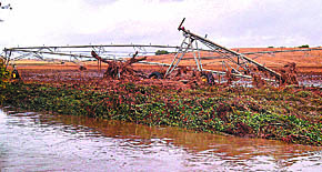 Portion of a center pivot that was washed away by flood waters in Greeley County. Photo courtesy of Dave Warner.