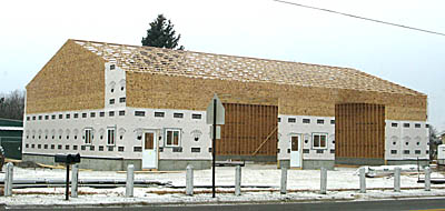 New commercial building at Petersburg.