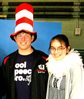 Brandon Dozler (Cat in the Hat) and Megan Frerichs (Gertrude McFuzz) will be play two of the featured roles in this weekend's Boone Central musical.