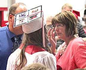 Ketteler family shares a moment during Boone Central Commencement.