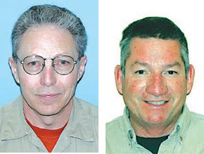 Lanny Long, l., will be retiring this month, and Jim Schindel, r., will become the new local manager of the Albion Division of Loup Power District.