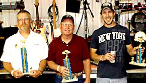 Best car awards at Petersburg went to (l. to r.) Neil Baumgartner, Dan Pelster and Cole Haddix.