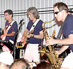The Rumbles perform inside the Petersburg Fire Hall.