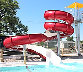 Water slide at Albion Family Aquatic Center.