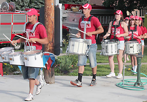 Boone Central drum line performs at Carnival Days.