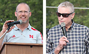 Paul Koch, left, and Tom Osborne