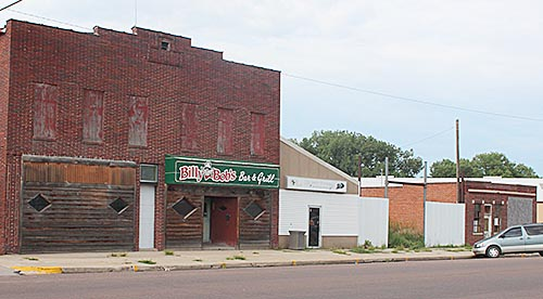 The former Billy Bob's bulding and Albion Bike Shop building on East Main Street.