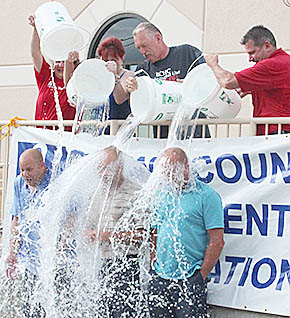 Ice Bucket Challenge at Boone County Health Center.