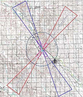 County airport zoning overlay map.