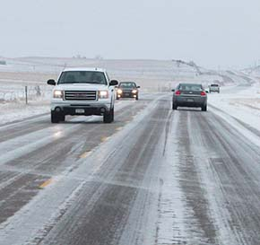 Some ice remained on area roadways early Tuesday.