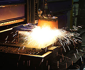A precision plasma cutter was added to Sentinel's production line.