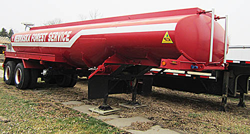 Water tank trailer on loan to the Petersburg Fire Department.