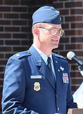 Clyde Stuhr, special guest speaker at Memorial Day services.