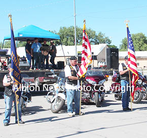 Albion Legion Riders Color Guard.