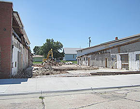 View of the center portion of Petersburg Locker after the demolition.