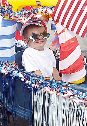 Reid Buck in first place kiddie parade entry.