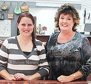 Marissa Neidhardt, l., and Gigi Hughes are new at Heartland Jewelry in Albion.