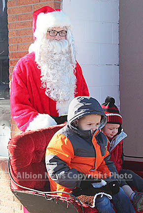 Santa Claus and his reindeer were on hand to greet children last Saturday, Nov. 28.