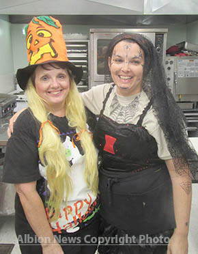 Julie Long and her staff at Julie's Catering 'n More were decked out for Halloween.