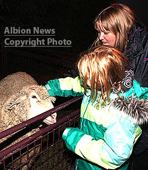 Animals from Horn T Zoo attracted attention at the downtown mini-park.