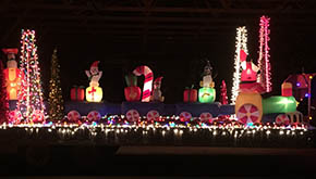Floats like this one, created by Loco's Designer T's, will be part of the Holiday Light Parade on Thursday evening.