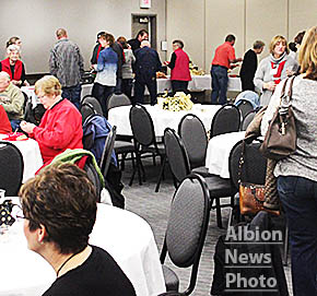 "The Big Give ""wrap party"" was held at the Cardinal Inn Friday evening, with a buffet meal by Rae Valley Market."