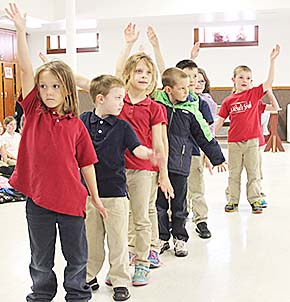 Students perform at St. Michael's last Friday.