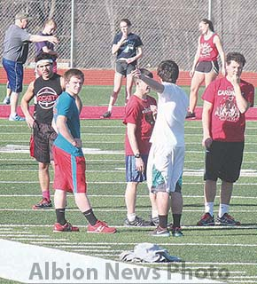 Boone Central track practice.