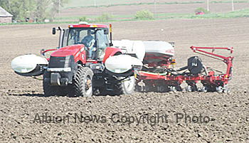 Planting operation near Albion recently.
