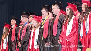 Boone Central seniors line up to receive their diplomas on May 15.
