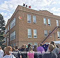 Egg drop at Boone Central Middle School.