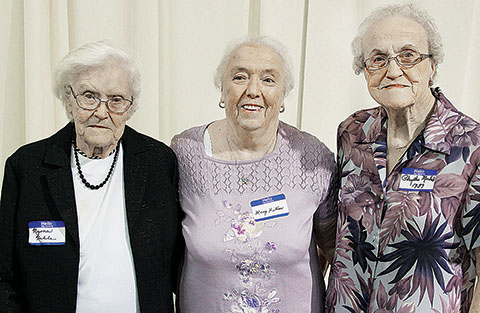 Alumni honors went to (l.-r.) Myrna Noble, Mary Kitner and Phyllis Michel.