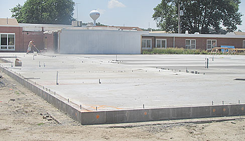 Concrete floor for the new wing at GSS Wolf Home in Albion.