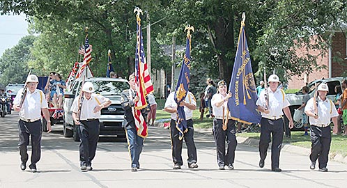 Veterans Color Guard leads off the parade.