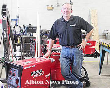 Brian Ferguson of Matheson Linweld began this week installing the new welding stations in the Boone Central shop.