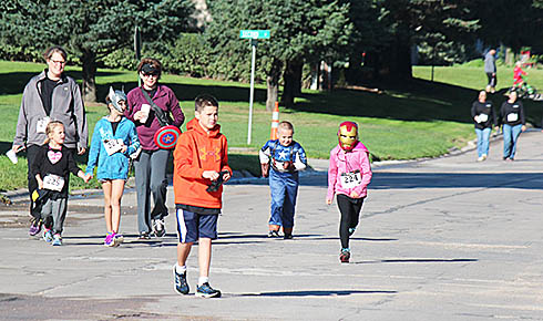 A group finishing up the 'Color Me A Cure' Walk/Run last Saturday.