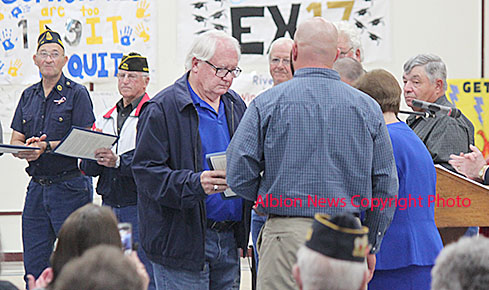 Dave Primrose was one of the Vietnam veterans receiving honors Friday at Riverside High School.