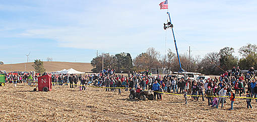 Portion of the crowd attending Punkin' Chunkin' last Sunday.