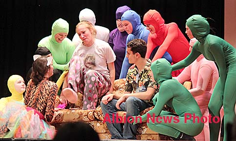Boone Central students perform their one-act play.