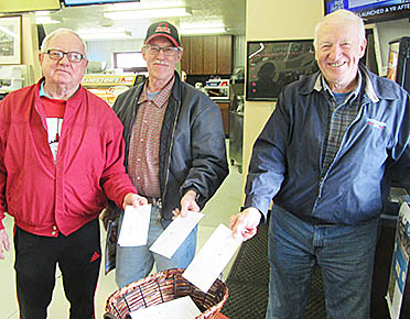 Don Friese, Jerry Thieman and Hank Thieman joined with many others who gave their BIG GIVE donations at Rae Valley Market, one of the two giving stations last Friday, Dec. 2, 2016.