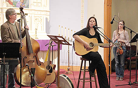 Jill Anderson and friends performed Irish music in Albion last Sunday, March 12.