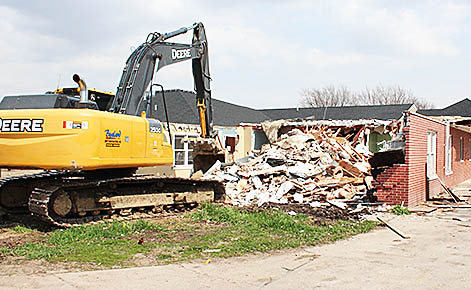 Demolition was completed last week at GSS Albion Wolf Memorial Home.