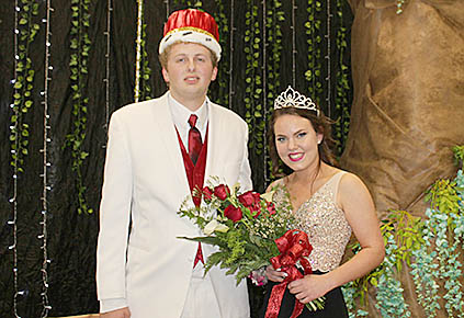 Boone Central Prom King Joe Rozeboom and Queen Aubrey Nygren.