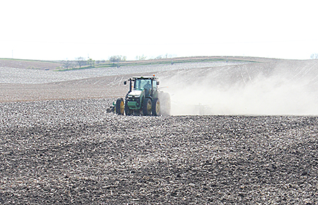 Planting operation south of Albion last weekend.
