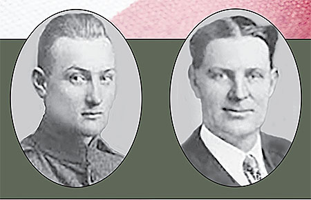 Sheriff Lawrence Smoyer, l., and Constable William Wathen.