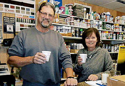 Monty and Teri Reicks at Petersburg Building & Supply.