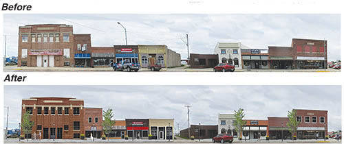 One example of street-scape drawings to be used for planning downtown.