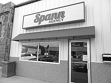 A new sign and building accents have been added at the Spann Agency, which recently moved to 137 South Third Street.