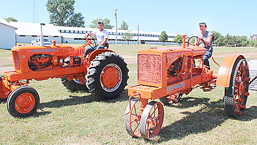 Antique tractors owned by the Brugger family were on display at the fair.